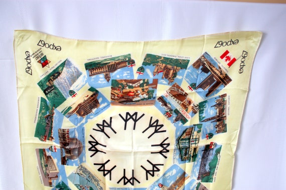Expo 67 Scarf, Expo 67 Scarf, Montreal 1967 Souve… - image 3