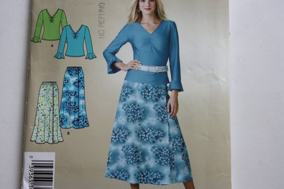 Simplicity 3821 UNCUT Pattern it's So Easy 3821 - Misses Skirt and Top -