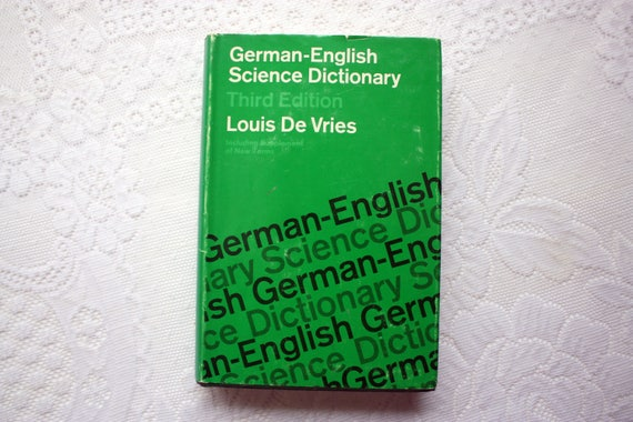 German English Dictionary Book