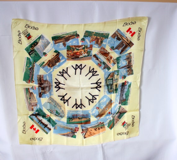 Expo 67 Scarf, Expo 67 Scarf, Montreal 1967 Souve… - image 1