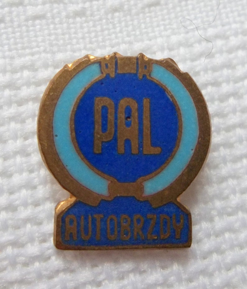 PAL Autobrzdy Pin, Vintage Brakes Pin, Car Parts Pin, Czechoslovakia car  parts company