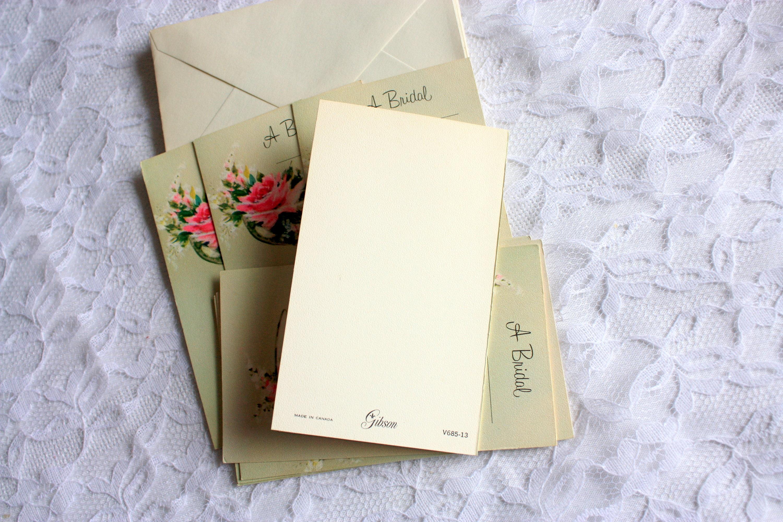 set of 8 bridal shower cards unused with envelopes bridal