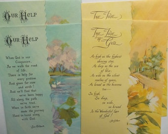 Set of 4 Vintage Get Well Cards, Religious Get Well cards, Inspirational cards, vintage greeting cards