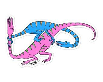 Queen Dinosaurs IV sticker Pink/Blue version