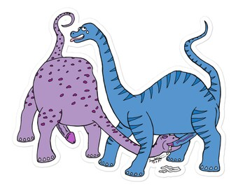 Queer Dinosaurs I sticker Blue/Purple version