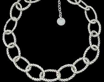 Big Silver Chain Necklace, Large Chunky Chain Necklace, Turkish Necklace, Plain Light Necklace, Adjustable Necklace, Fashion Chain Necklace
