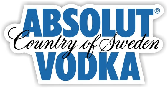 absolut vodka vinyl sticker decal logo full color bar man etsy