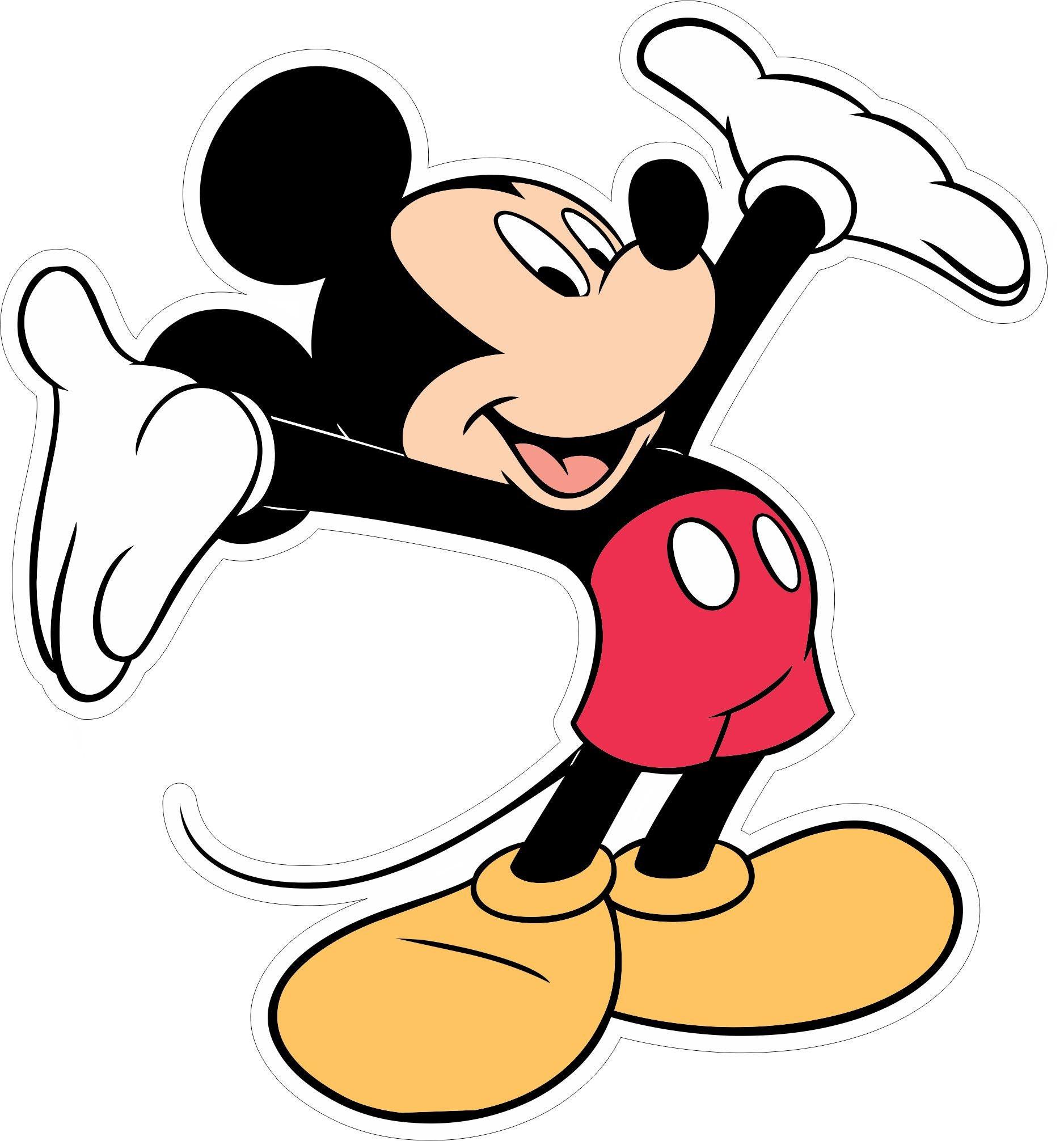 3c6bc02d4c400 Mickey Mouse 003 - Vinyl Sticker Decal - Full Color Cad Cut - Disney