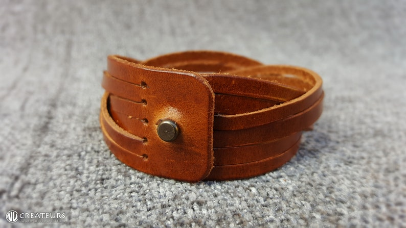 Fathers Day Gift Anniversary gift Mens Leather bracelet Braided Mens gift Gift for Dad Leather bracelet Mens Brown Leather bracelet