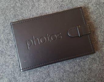 Black photo album, memory book,  gift book, birthday gift.