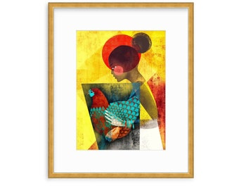 RISE, Women of Color, Women Illustration Print, Black Girls, Best Friends, Sisters, Daughters, Wall decor, Magical