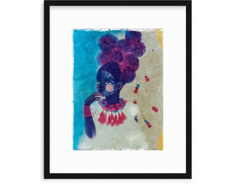 SUNDAY GIRL, Girls of Color, Women of Color, Women Illustration Print, Black Girls, Best Friends, Sisters, Daughters, Wall decor, Magical