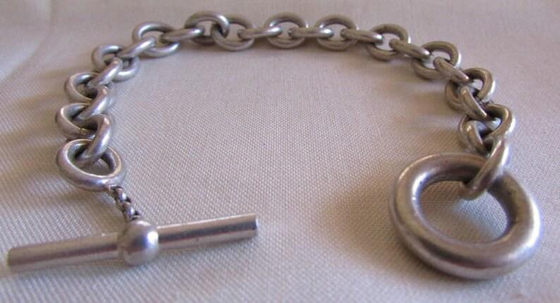 Sterling Silver Toggle Bracelet 7 12
