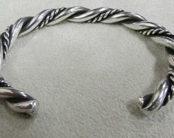 Sterling Silver Twisted Wire Cuff Bracelet