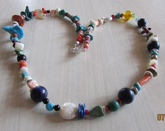 """One of a KInd Mixed Bead Necklace. 22"""""""