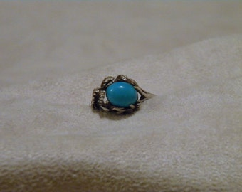 Sterling Silver Turquoise Ring - Size 8 1/2