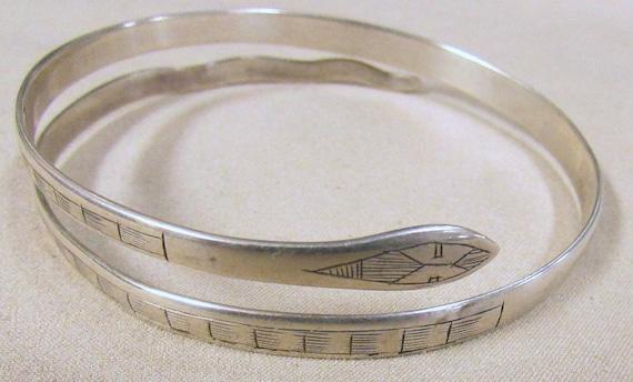 Sterling Silver Snake Upper Arm Band Bracelet