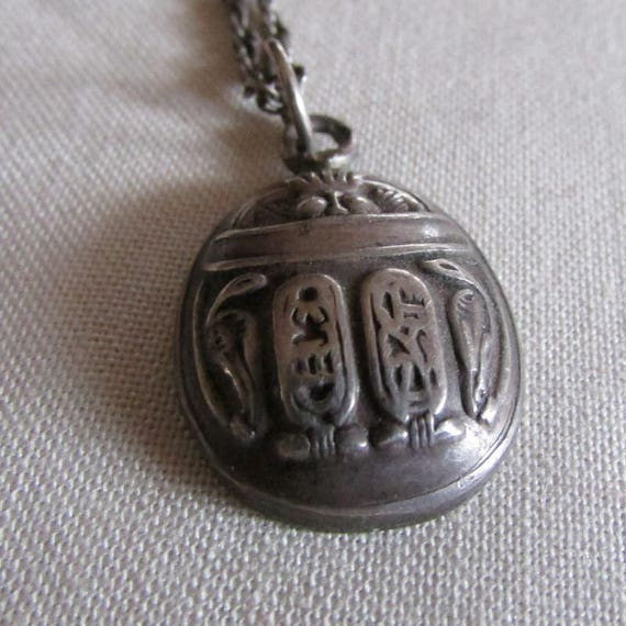 Sterling Silver Hieroglyphics Necklace