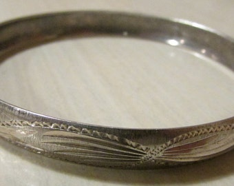 Sterling Silver 7 Day Bangle Bracelet Set.