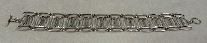 Handmade Sterling Silver Wire Link Bracelet