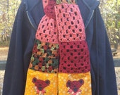 Dancing bear grateful dead scarf with pockets