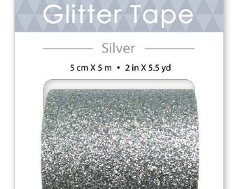 Wide Glitter Tape - 4 Different Colors - 50mm by 5m