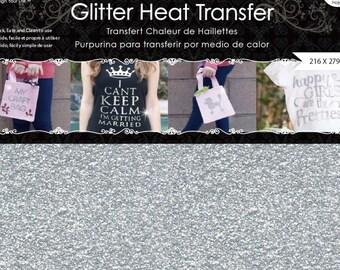 Glitter Iron On Vinyl-8.5*11 inch (2 sheets/pack)