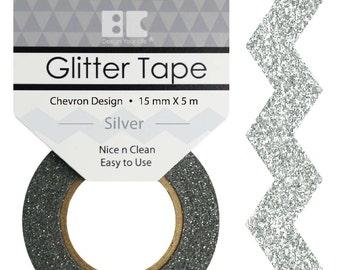 Glitter Tape Designs- Chevron~~6 colors 15mm x 5m~~
