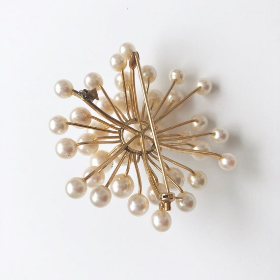 Vintage Pearl Brooch, Antique Jewelry, Pearl Pin - image 5