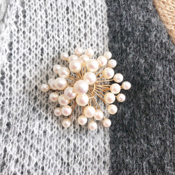 Vintage Pearl Brooch, Antique Jewelry, Pearl Pin - image 6