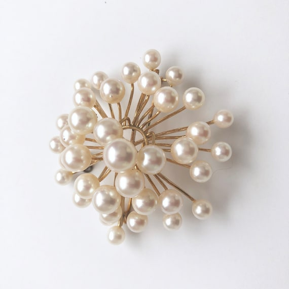 Vintage Pearl Brooch, Antique Jewelry, Pearl Pin - image 7