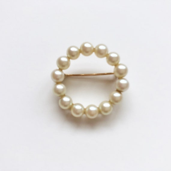 Vintage Pearl Brooch, Antique Jewelry, Pearl Pin,… - image 3