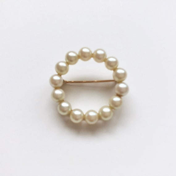 Vintage Pearl Brooch, Antique Jewelry, Pearl Pin,… - image 1