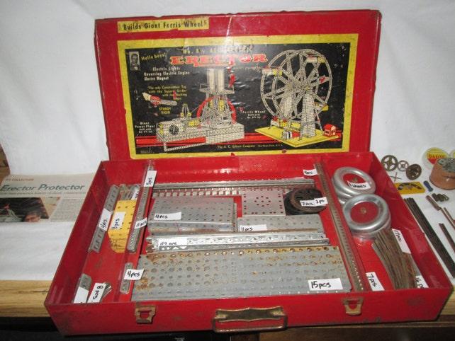 Vintage Erector Set No 8 12 Ferris Wheel With Original Label Etsy