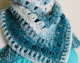 PDF crochet pattern, Wrapped in love shawl, Scarf,