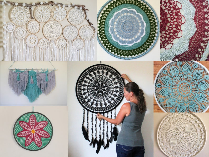 PDF Crochet Pattern Book 25 different wall hanging designs in image 0