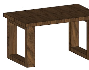 DIY Bench Plans | Small Modern Bench Perfect for Entryway