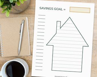 Savings Tracker | Save For Home Deposit Goal or Renovation Fund For Your Home