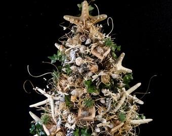 sold beach christmas treenautical christmas treeshell christmas treebeach decorationocean decorshell decorationsbeach christmas trees - Beach Christmas Tree