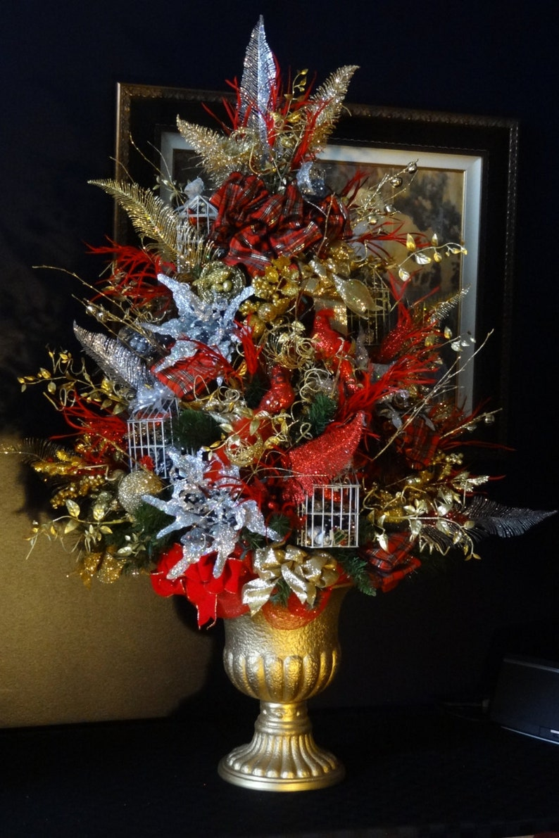 Decorated Christmas Tree Decorated Christmas Trees Christmas Etsy