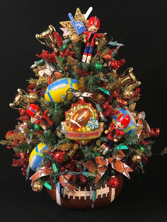 image 0 - Lighted Football Christmas TreeFootball DecorUnique Football Etsy