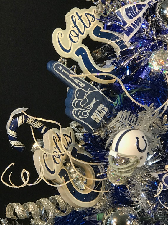 Sold Indianapolis Colts Christmas Tree Indianapolis Colts Decorated Christmas Tree Colts Christmas Decoration Indianapolis Colts