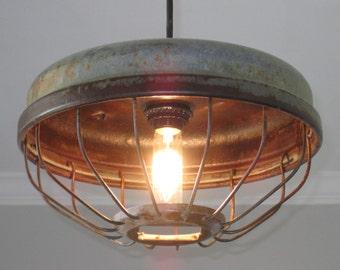 Industrial Chicken Feeder Pendant Lighting- Vintage Kitchen lighting Industrial lighting Farmhouse lighting & Kitchen lighting | Etsy