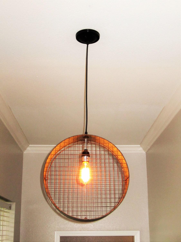 Wire Mesh Pendant Light Lighting Pendant Lighting Rustic   Etsy