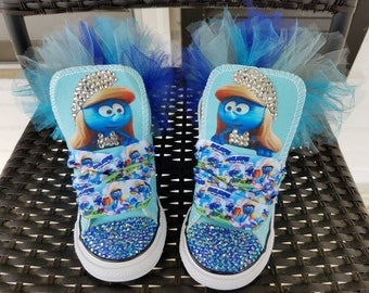 Smurfs TuTu Custom Converse