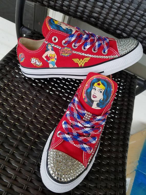 f0c55e8e5a44 Wonder Woman Custom Converse