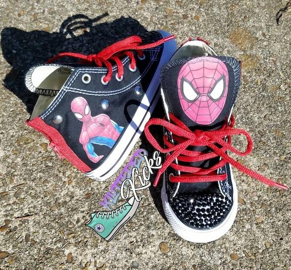 0861a2c19f81a9 Spiderman Custom Converse