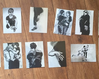 11 greeting cards/11 art post cards 15 Euro