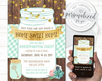 Housewarming party invitation, Housewarming BBQ, Digital file for print/email/text, I design for you with quick turnaround!