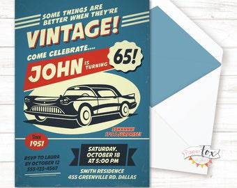 60 Geburtstags Einladung 70er Jahre Geburtstags Einladung Etsy